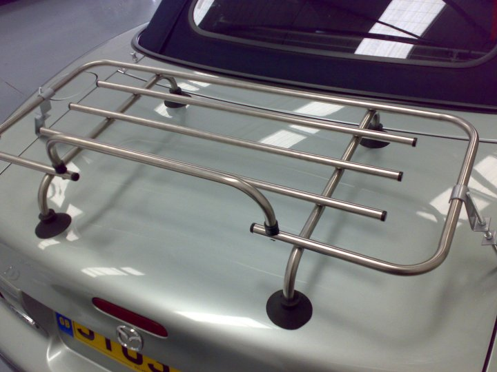 Chrome Convertible Car Luggage Rack For Mgb Triumph Spitfire Mazda Mx5