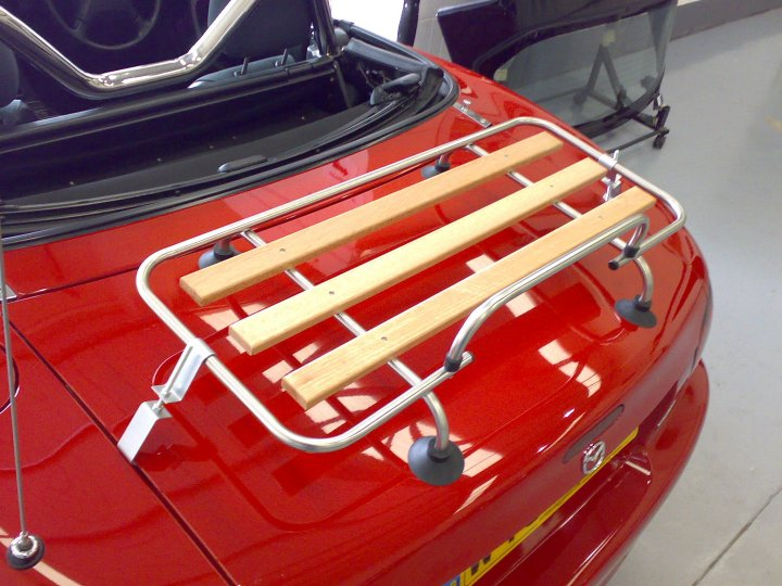 Classic Chrome Amp Wood Car Luggage Rack For Mazda Mx5 Mgf Mgb